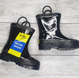 NEW Western Chief Black Rubber Rain Boots Toddler